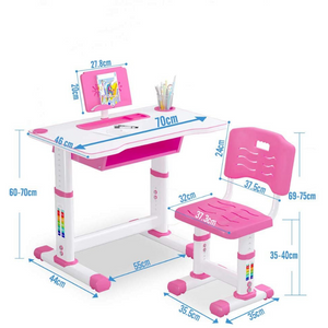 Premium Kids Adjustable Study Desk And Chair Set