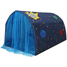 Load image into Gallery viewer, Kids Indoor Pop Up Privacy Over Bed Tent