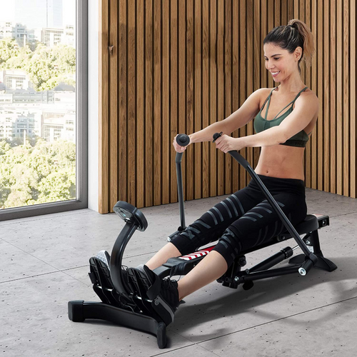 Adjustable Compact Seated Home Back Rowing Exercise Machine