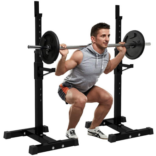 Portable Home Gym Adjustable Half Squat Rack Stand