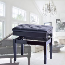 Load image into Gallery viewer, Premium Adjustable Piano Stool Bench Seat With Storage