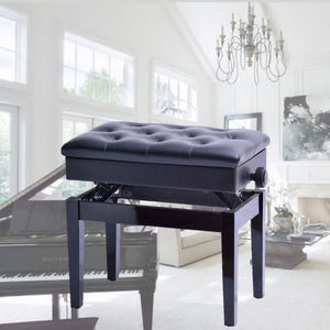 Premium Adjustable Piano Stool Bench Seat With Storage