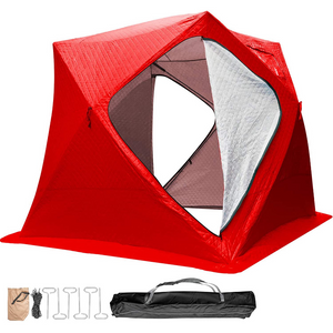 Large Portable Pop Up Ice Fishing Shelter Tent
