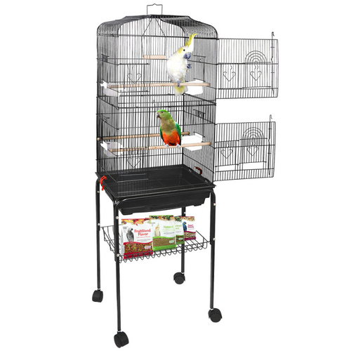Portable Large Big Bird Cage With Wheels 59