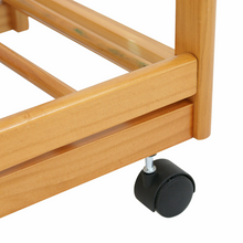 Load image into Gallery viewer, Portable Wood Top Rolling Kitchen Island Cart With Wheels