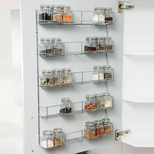 Wall Mounted Kitchen Spice Organizer Hanging Rack