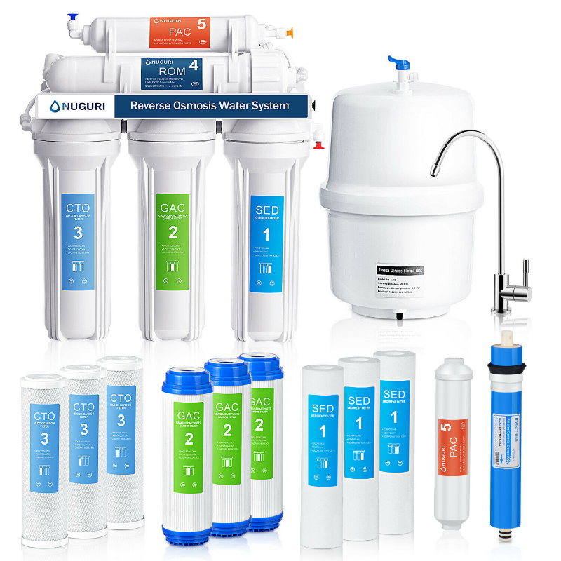 Premium Under Sink 5 Stage Reverse Osmosis Water Filtration System