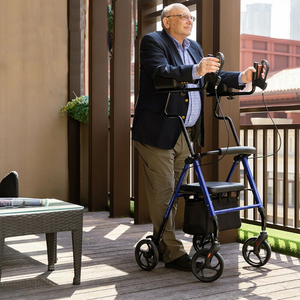 Premium Standing Upright Senior Walker With Seat