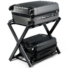 Load image into Gallery viewer, Heavy Duty Large Folding Luggage Holder Rack