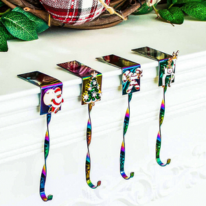 All In One Christmas Mantle Stocking Holder Set