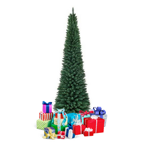 Artificial 9 Ft Skinny Pencil Christmas Tree