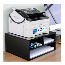 Load image into Gallery viewer, Large Premium Desktop Wooden Printer Stand With Storage