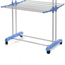 Load image into Gallery viewer, Heavy Duty Portable Rolling Clothes Free Standing Hanger Rack