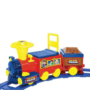 Kids Battery Powered Ride On Toy Train With Track