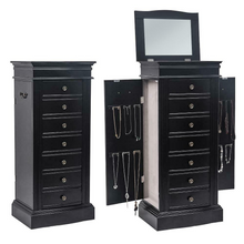 Load image into Gallery viewer, Large Modern Free Standing Jewelry Armoire Cabinet