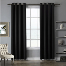 Load image into Gallery viewer, Room Darkening Sun Light Blocking Blackout Curtain | Zincera