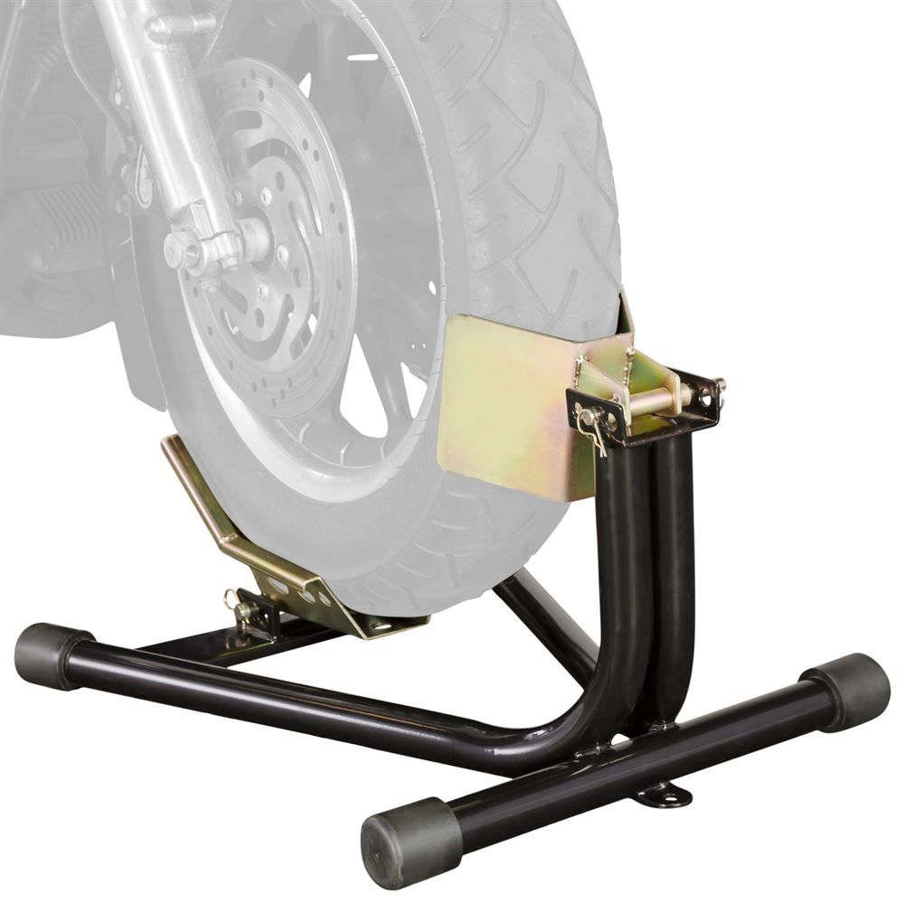 Heavy Duty Motorcycle Wheel Chock Stand | Zincera