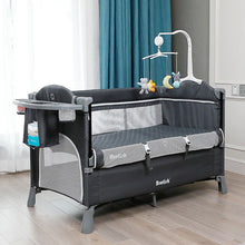 Load image into Gallery viewer, Premium Baby Bedside Bassinet Sleeper Crib | Zincera