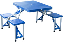 Load image into Gallery viewer, Portable Folding Collapsible Picnic Table And Chairs Bench Set