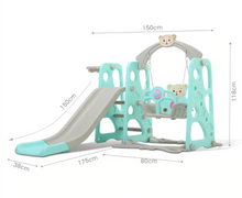 Load image into Gallery viewer, 3 in 1 Kids Swing Set Playhouse With Slide | Zincera
