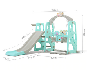 3 in 1 Kids Swing Set Playhouse With Slide | Zincera