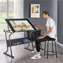 Load image into Gallery viewer, Large Adjustable Architectural Drafting / Drawing Table Desk