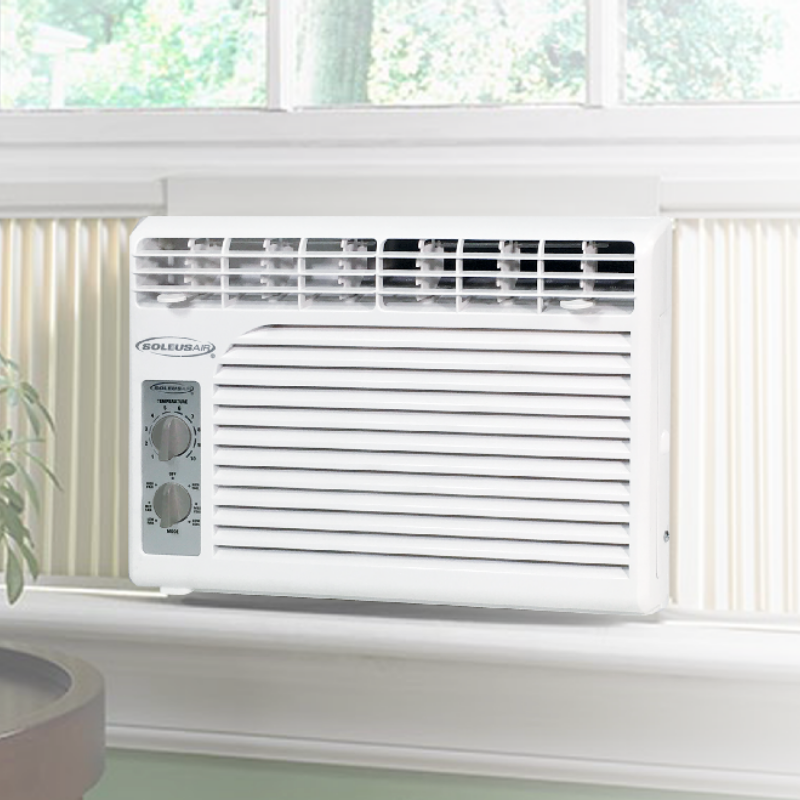 Premium Small Quiet Window Air Conditioner Unit 5100 BTU | Zincera