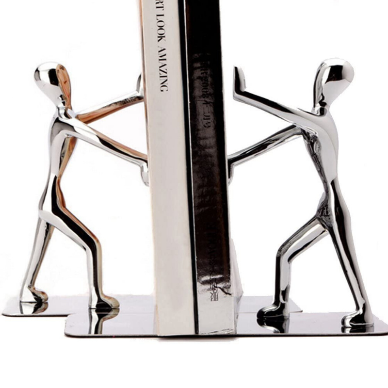 Premium Stainless Steel Modern Bookend | Zincera