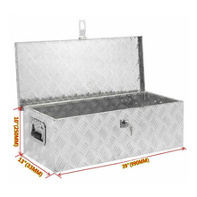 Load image into Gallery viewer, Large Aluminum Pickup Truck Tool Bed Storage Box 39"