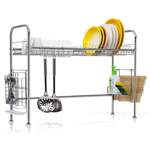 Premium Stainless Steel Over The Sink Dish Drying Rack | Zincera