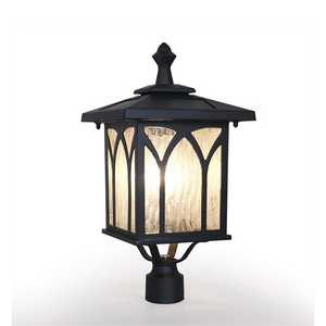 Premium Outdoor Solar Yard Light Lamp Post Fixture | Zincera