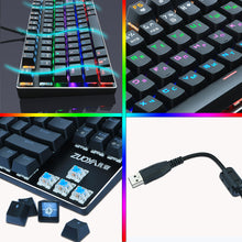 Load image into Gallery viewer, Rainbow RGB Mechanical Gaming Keyboard For PC | Zincera