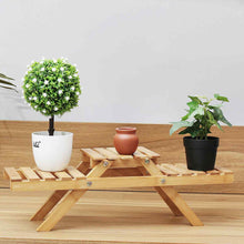 Load image into Gallery viewer, Large Indoor Wooden Multi Tier Plant Holder Shelf Stand | Zincera