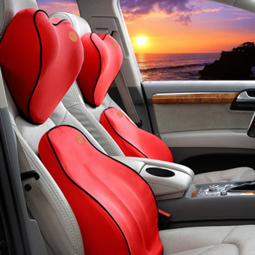 Car Seat Lumbar Back Support Pillow Cushion & Headrest | Zincera
