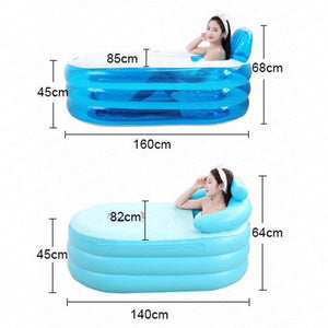 Portable Stand Alone Inflatable Bathtub For Adults | Zincera