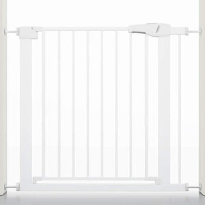 Wide Baby Walk Through Fence Gate With Door Pressure Mounted | Zincera