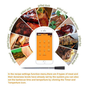 Wireless Digital Bluetooth Meat BBQ Thermometer | Zincera