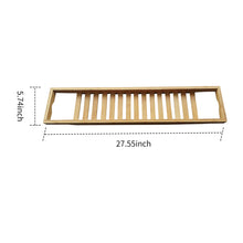 Load image into Gallery viewer, Wooden Bathtub Caddy Bamboo Tray | Zincera