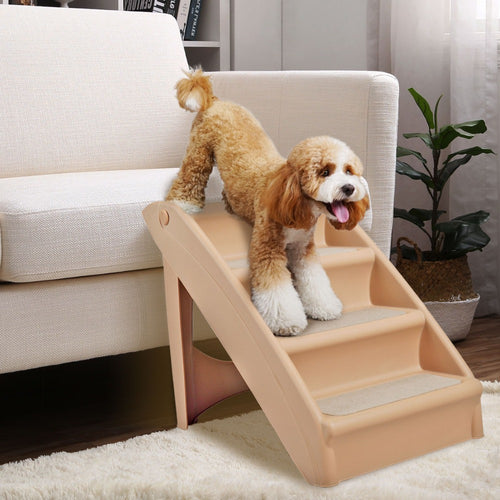 Heavy Duty Foldable Pet Stair Steps Ramp | Zincera