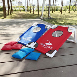 Deluxe Regulation Cornhole Bean Bag Toss Board Set | Zincera