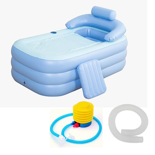 Portable Stand Alone Bathtub Foldable Spa With Foot Pump | Zincera