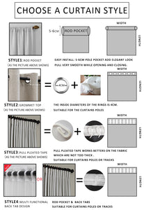 Room Darkening Sun Light Blocking Blackout Curtain | Zincera
