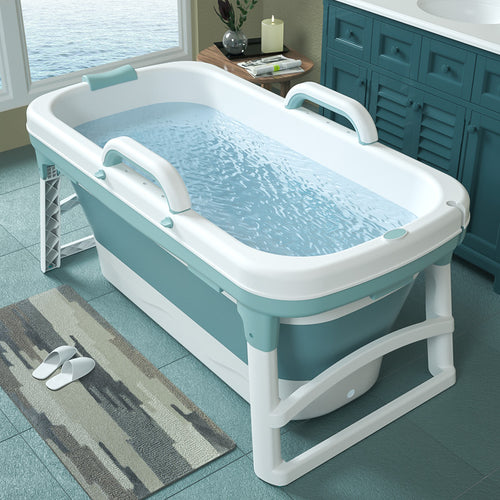 Extra Large Foldable Stand Alone Bathtub For Adults | Zincera