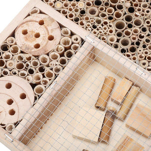 Natural Wooden Bee Hive Box House | Zincera