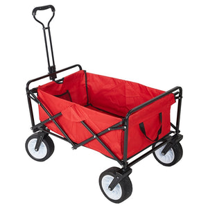 Heavy Duty Collapsible Folding Utility Beach Wagon All Terrain Cart | Zincera