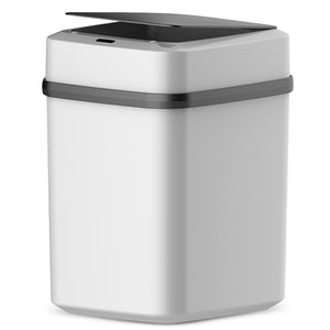 Automatic Motion Sensor Kitchen Trash Can With Lid Touchless | Zincera