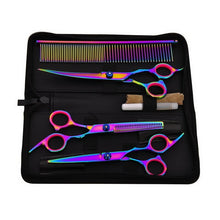 Load image into Gallery viewer, Premium Hair Cutting Scissors And Comb Set | Zincera