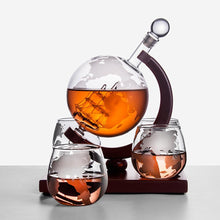Load image into Gallery viewer, Ultimate Globe Whiskey Decanter Set With 4 Glasses