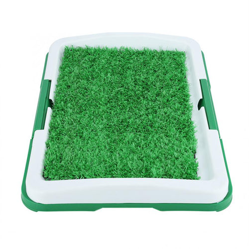 Portable Indoor Dog Porch Potty Grass Pee Pad | Zincera