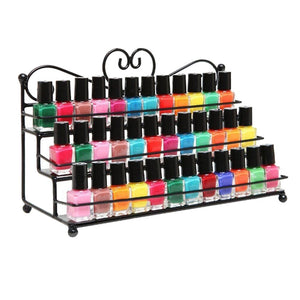 Premium Nail Polish Organizer Display Shelf Rack | Zincera